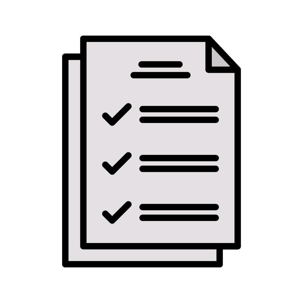 ícone de vetor de teste