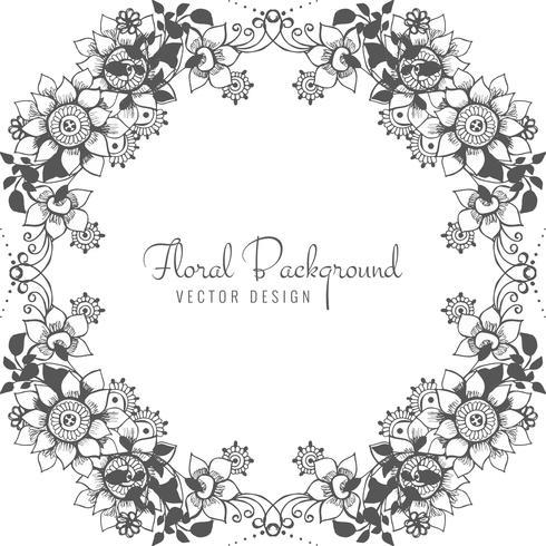 Fundo floral abstrato decorativo casamento vetor