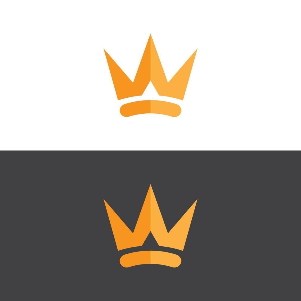 logotipo elegante da coroa em imagem vetorial de ouro vetor