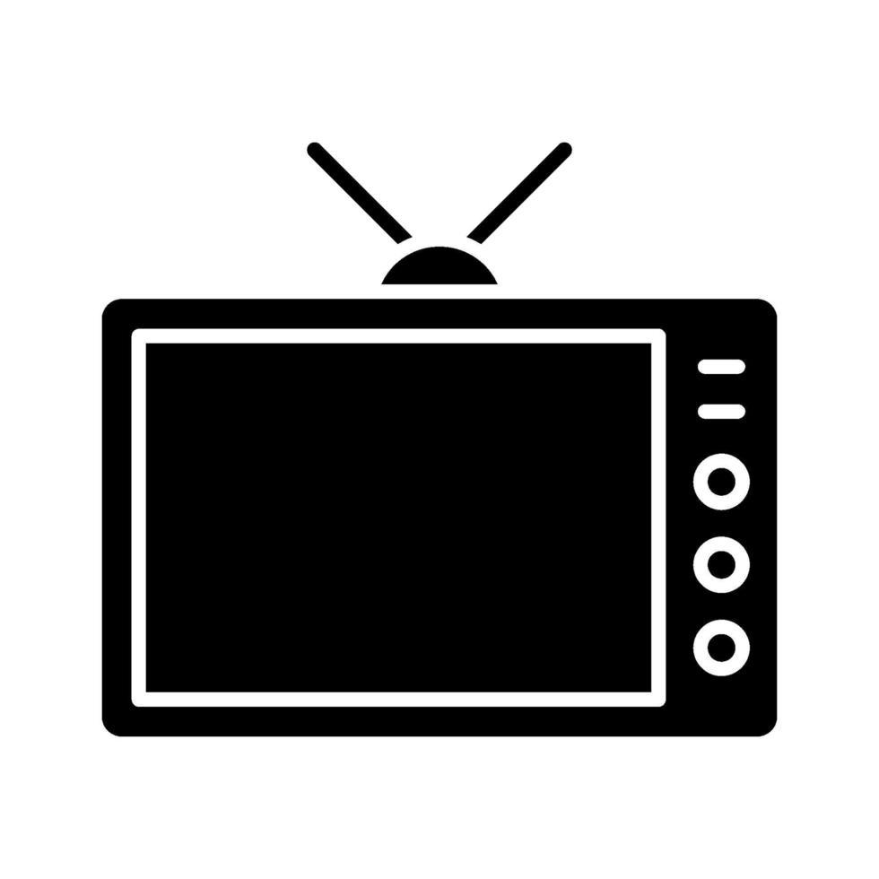 ícone de vetor de televisão