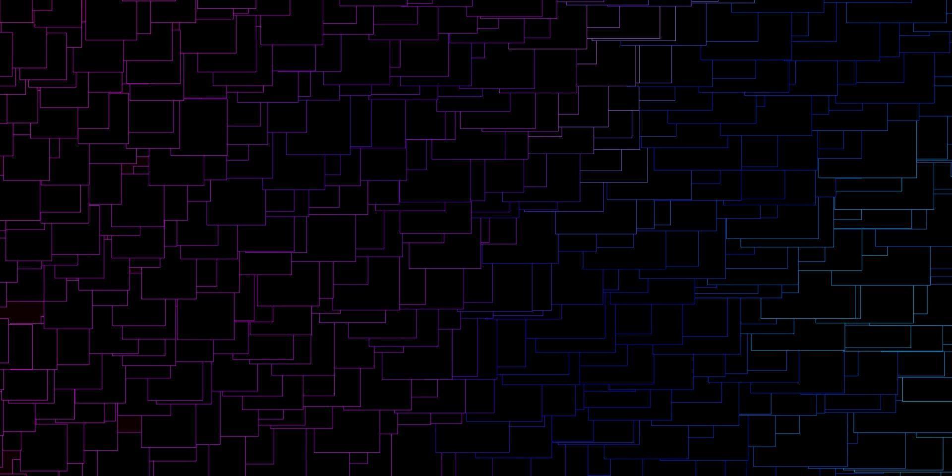 textura vector rosa escuro, azul em estilo retangular.