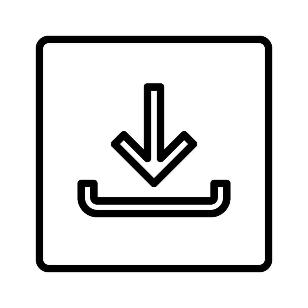 ícone de download do vetor