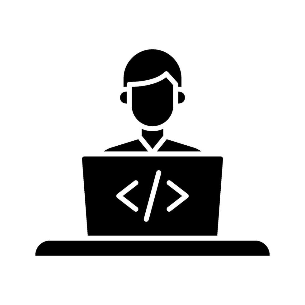 ícone de vetor de desenvolvedor