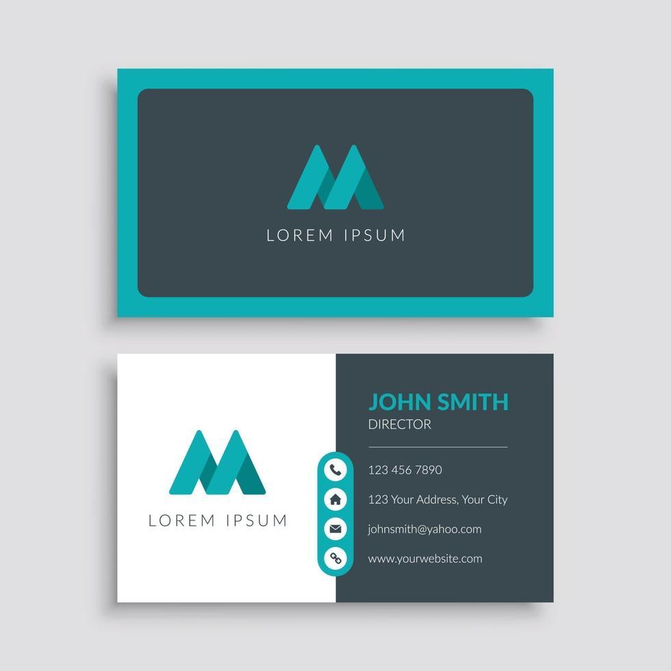 modelo de cartão de negócios moderno limpo vetor