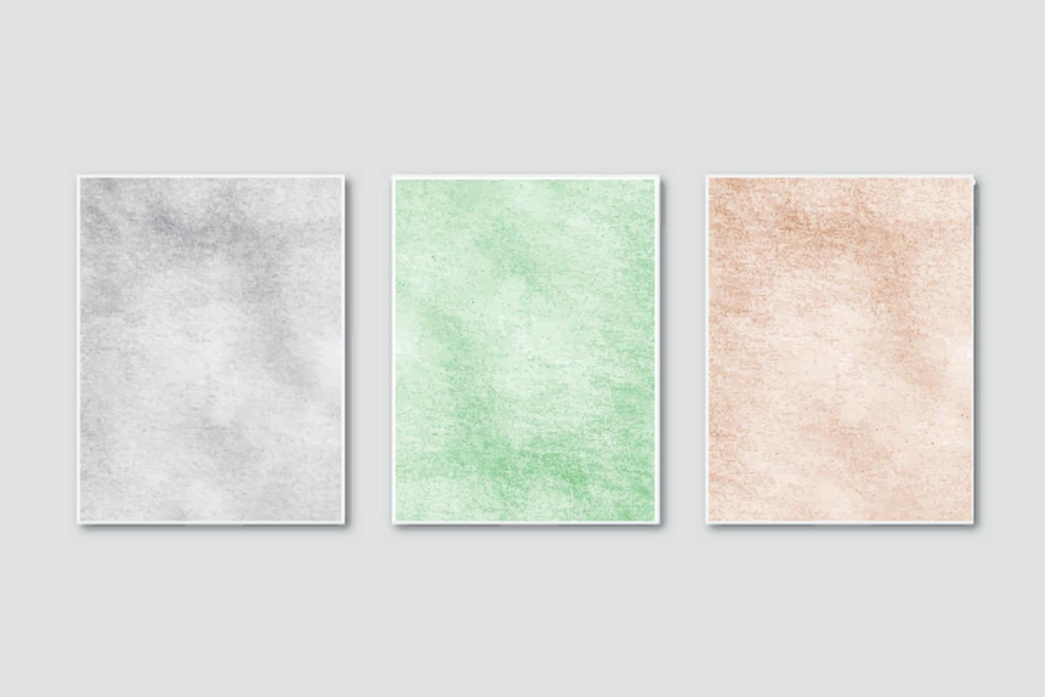 convite de casamento definido com aquarela minimalista criativa pintada à mão vetor