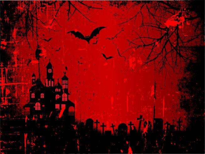 Fundo de dia das bruxas do grunge vetor