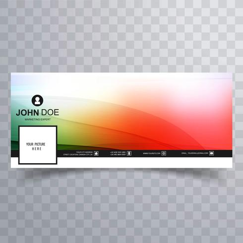 Projeto colorido do molde abstrato bonito da bandeira do facebook vetor