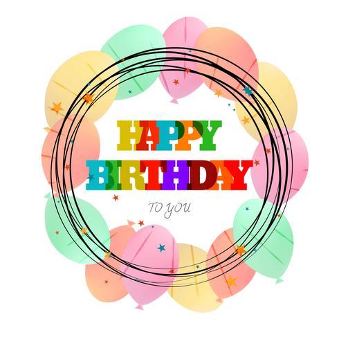Fundo moderno feliz aniversário colorido vetor