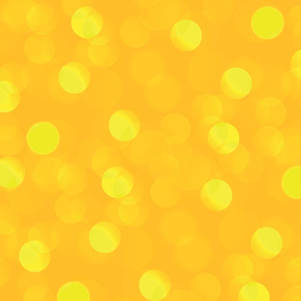 fundo desfocado abstrato amarelo com efeito bokeh vetor