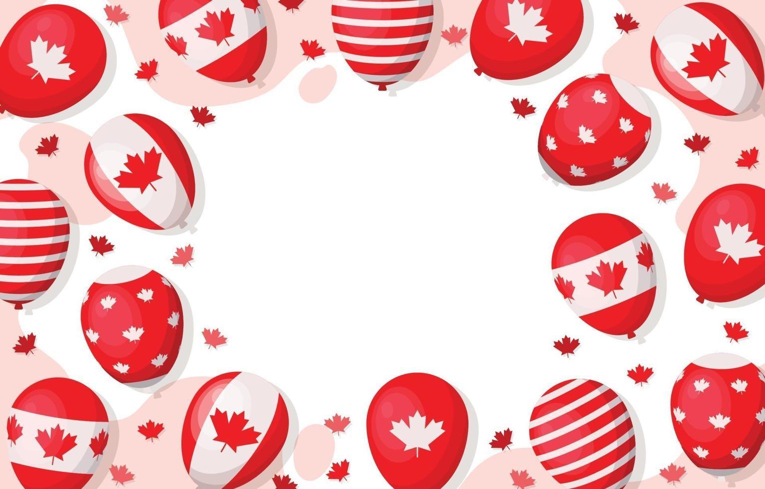 fundo do dia canadense vetor