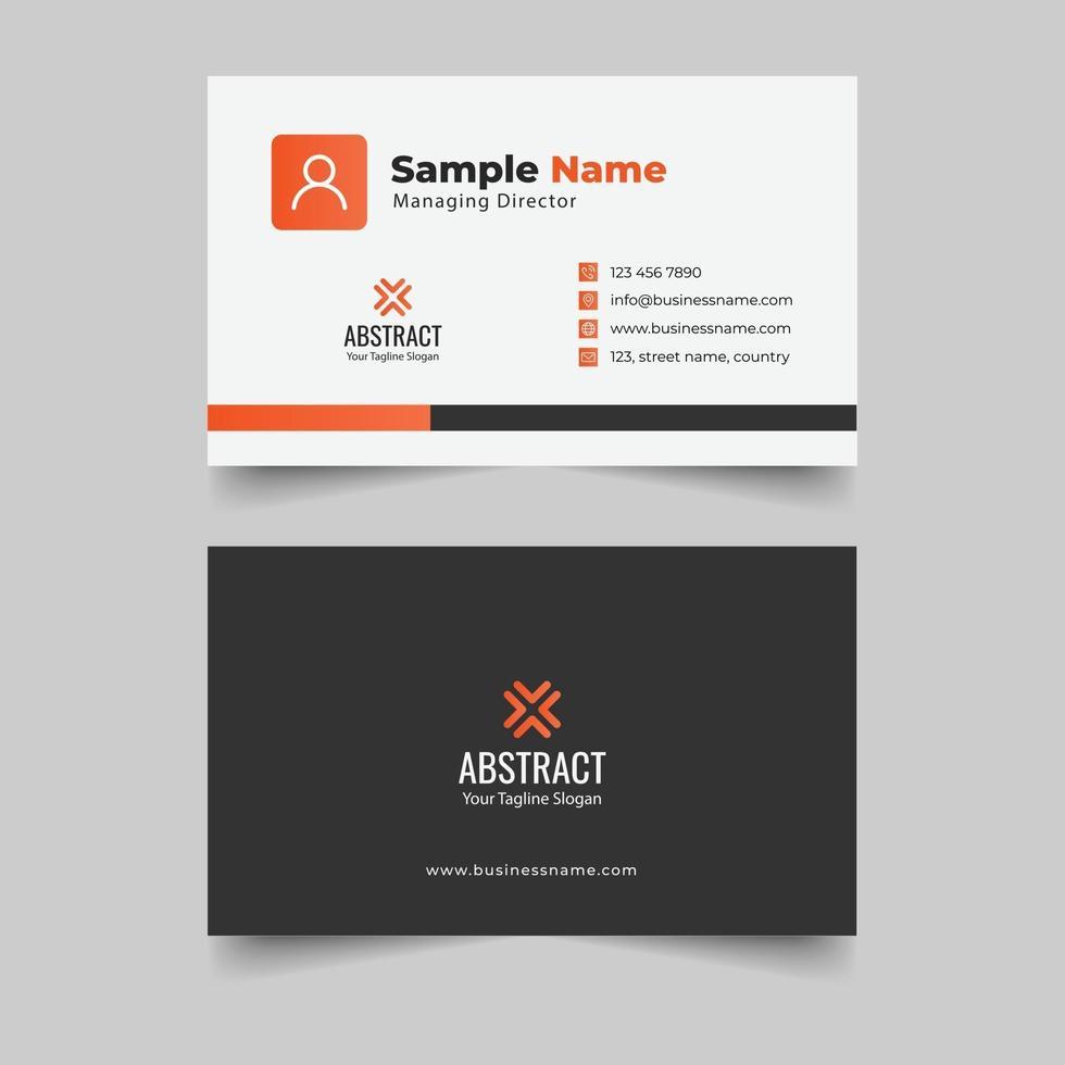 modelo de design de cartão de visita limpo e criativo vetor