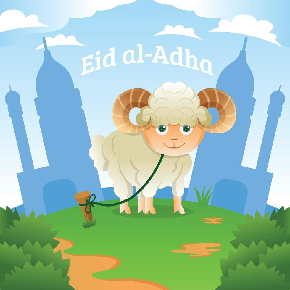 design de celebração eid al-adha vetor
