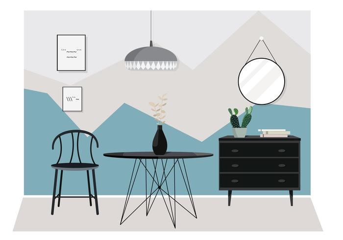 Vector mobília moderna ilustração
