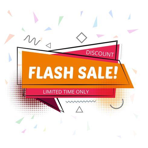 Modelo de plano de fundo elegante venda flash vetor