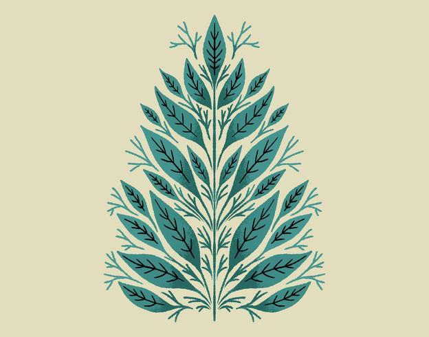 Design de folha botânica vetor