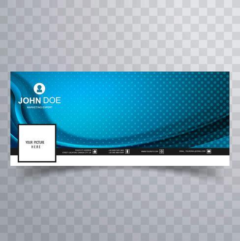 Modelo de banner abstrato azul facebook timeline vetor