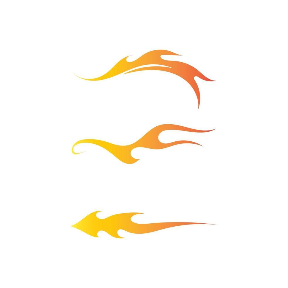 Vetor de modelo de ícones de logotipo e símbolos de chama de fogo