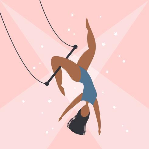 Vetor de artista de trapézio