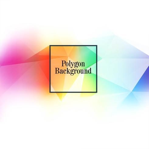 Fundo abstrato colorido polígono vetor