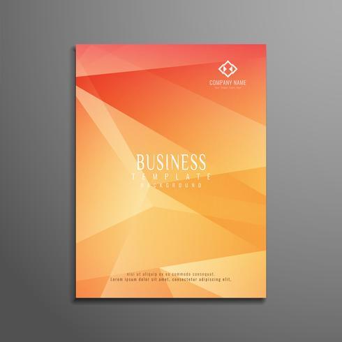 Design de modelo de panfleto de negócio abstrato vetor