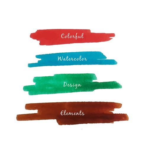 Fundo abstrato colorido aquarela traços vetor