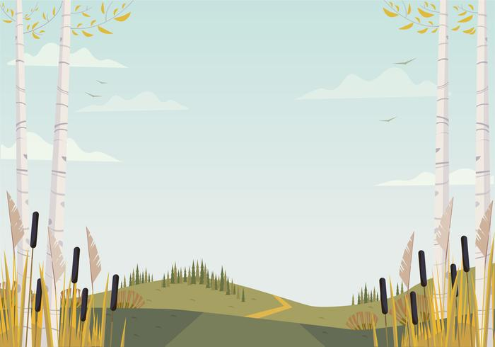 Vector bela paisagem ilustração