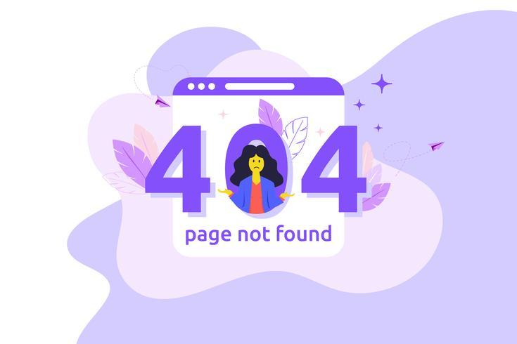 Erro 404 na página da web indisponível. Arquivo não encontrado. Conceito de negócios vetor