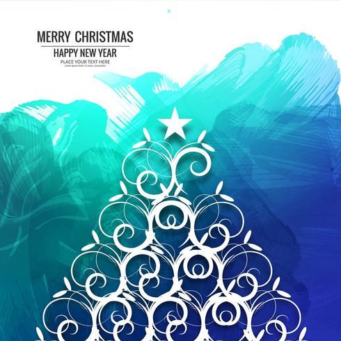 Vetor de fundo colorido de cartão feliz Natal
