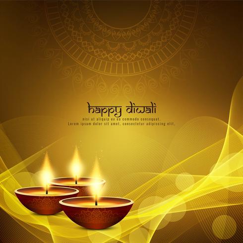 Resumo feliz Diwali fundo linda saudação vetor