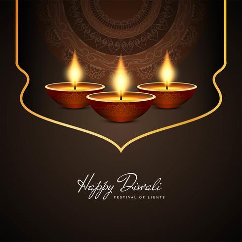 Resumo feliz Diwali fundo religioso bonito vetor