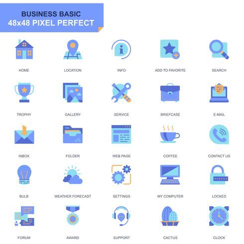 Conjunto simples ícones básicos simples para site e aplicativos móveis vetor