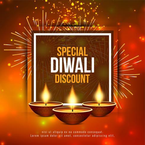 Resumo feliz Diwali festival oferta fundo vetor