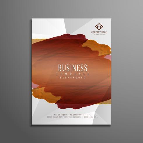 Design de modelo de panfleto de aquarela abstrata vetor