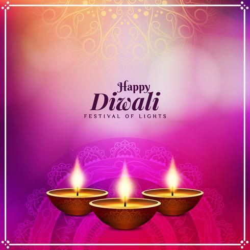 Resumo elegante feliz Diwali decorativo fundo vetor
