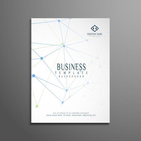 Abstrato design de modelo de folheto de negócios tecnológicos vetor