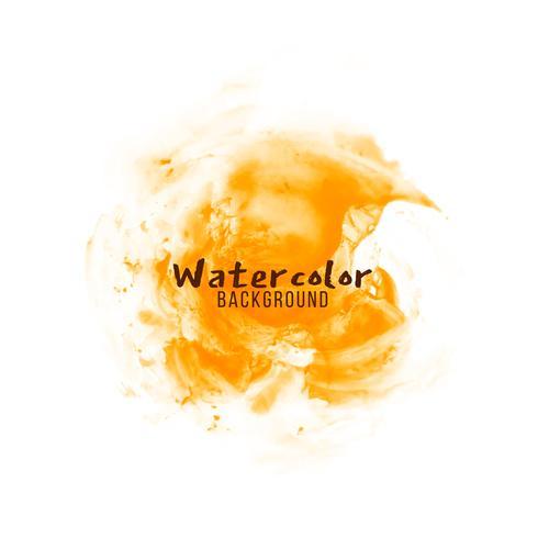 Fundo abstrato aquarela laranja vetor