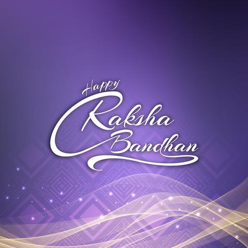 Resumo feliz Raksha bandhan elegante texto design plano de fundo vetor