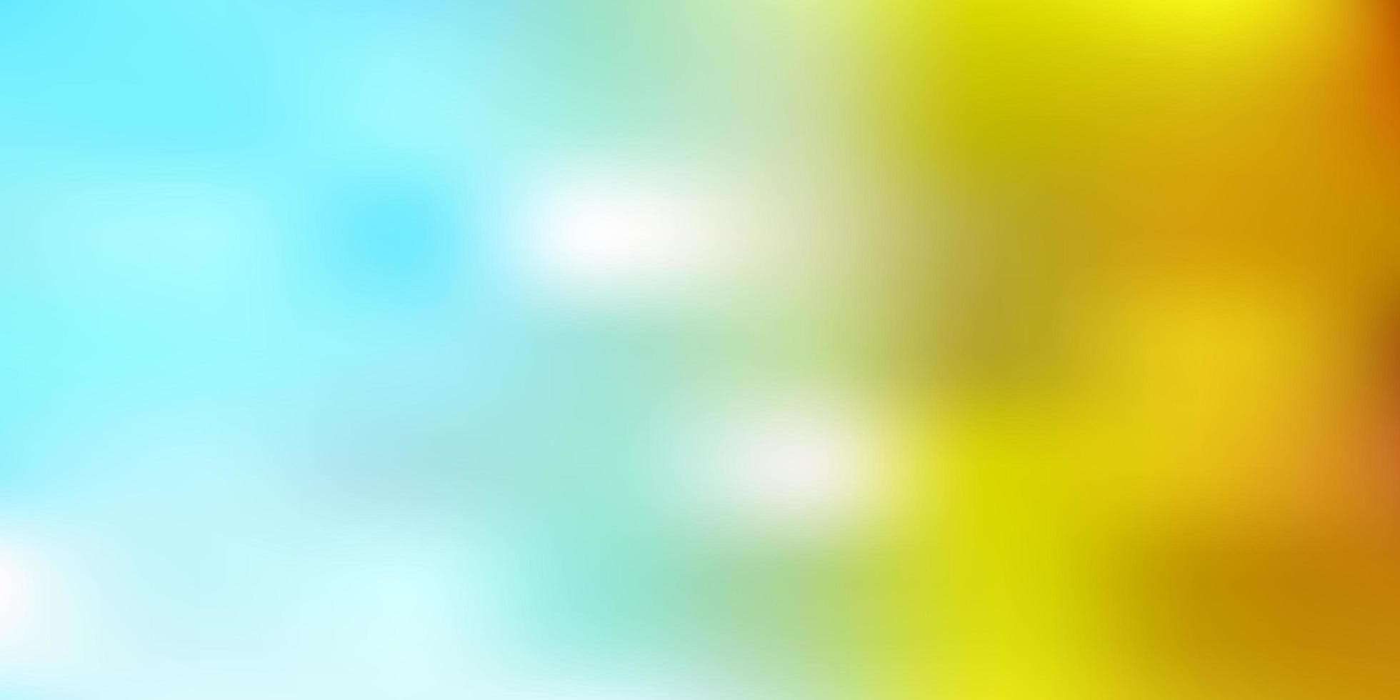 modelo de vetor azul claro amarelo desfocado