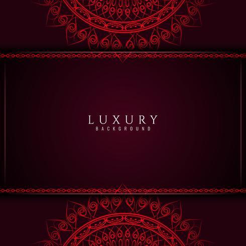 Fundo abstrato decorativo mandala de luxo vetor