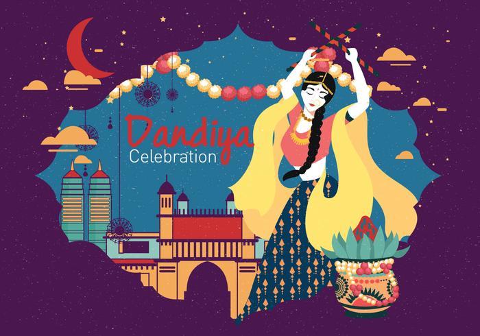 Dandiya And Garba Posters Vetor De Vol 3