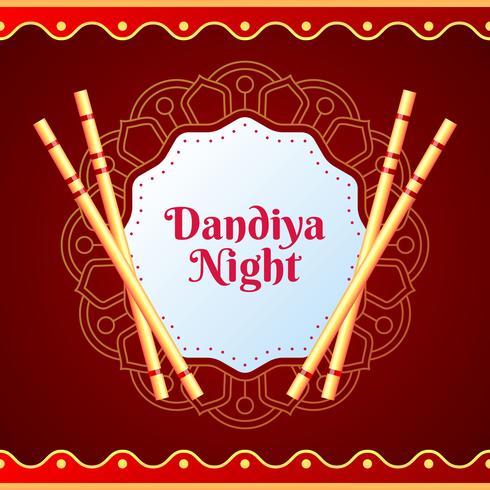 Cartaz criativo ou panfleto de fundo de cartão de convite Dandiya vetor