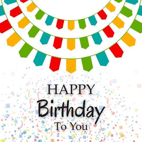 Feliz aniversário festa fundo vetor