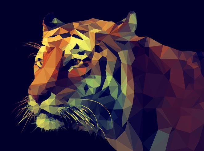 Tigre Low Poly vetor