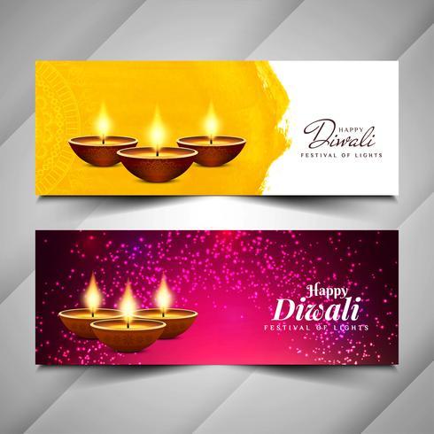 Abstrato design de banners religiosos feliz Diwali vetor