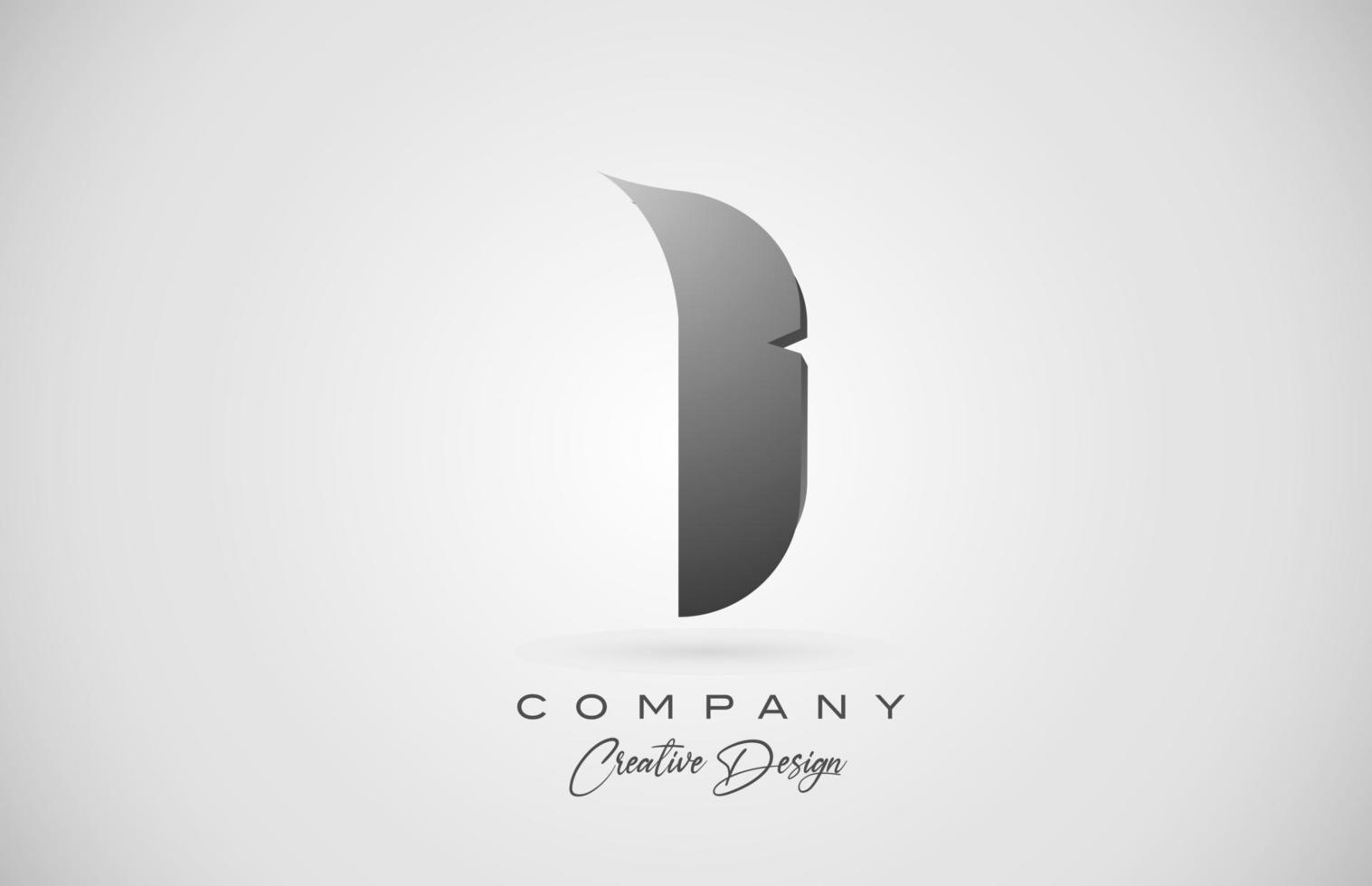 letra do alfabeto i logotipo do ícone em gradiente preto. design criativo para negócios e empresa vetor