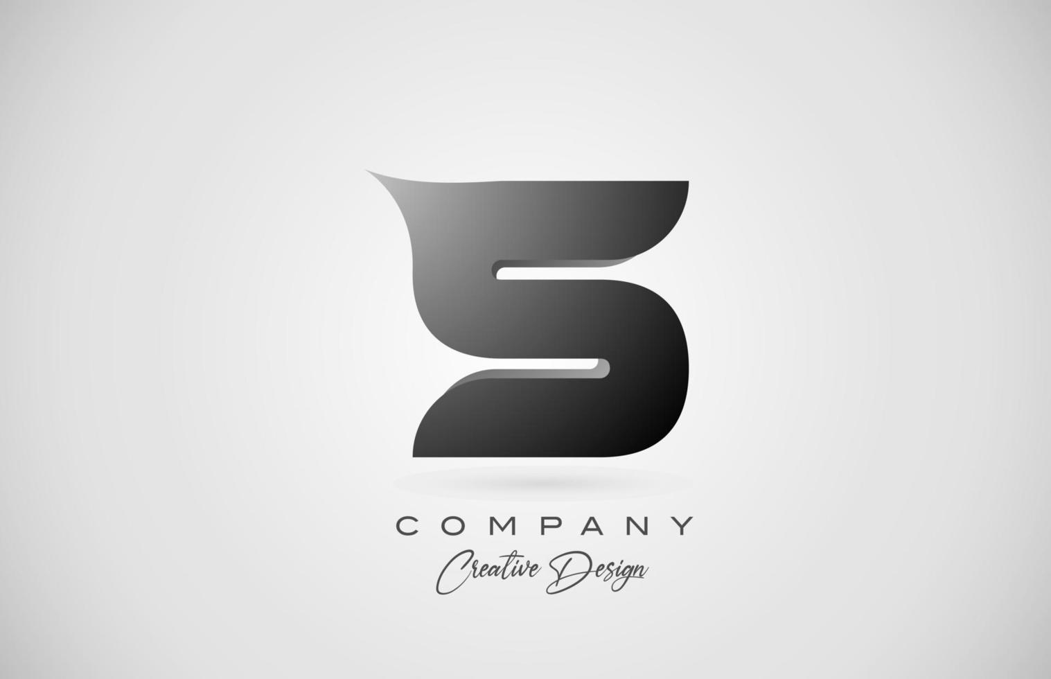 logotipo do ícone da letra do alfabeto s em gradiente preto. design criativo para negócios e empresa vetor