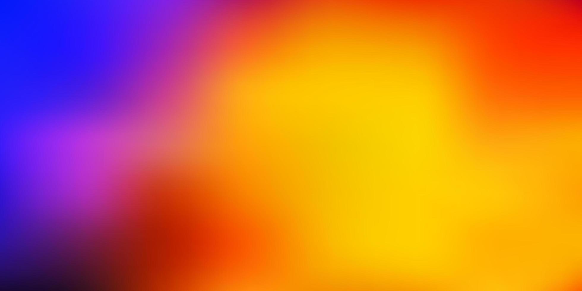 modelo de desfoque gradiente de vetor azul claro vermelho