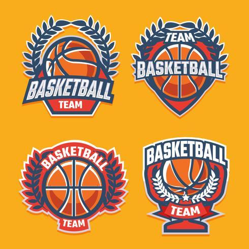 Emblema de basquete vetor