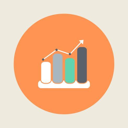 Ícone de gráfico de finanças estilo simples vetor