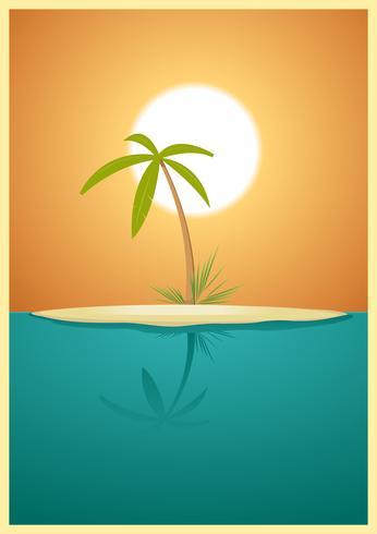 ilha paradisíaca vetor